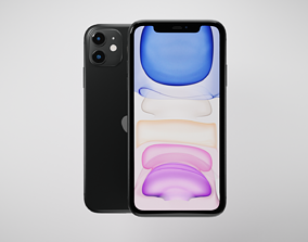 Apple iPhone 11 3D asset game-ready