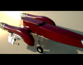 3D model Rigged Retro Space Fighter