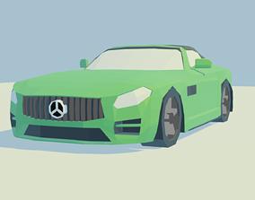 Low poly Benz Amg GT C Roadste 3D model
