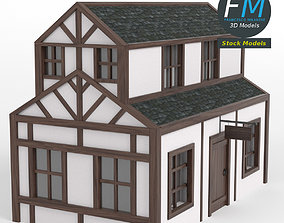 3D Half timbered inn