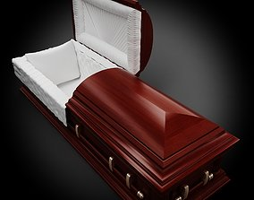 3D model High Def Classic Coffin wood 05
