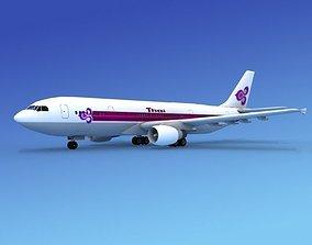 Airbus A300 Thai Airways 3D