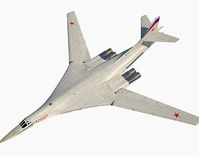 3D Tupolev Tu 160 Russian Strategic Bomber