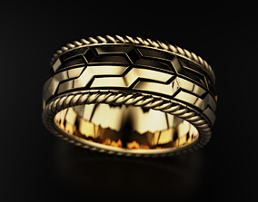 Ring with original design 606 3D printable model
