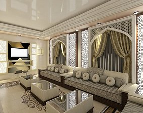 Arabic Majlis Interior 3D