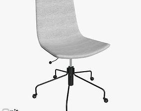 wheel Slope Office Chair by West Elm 3D model