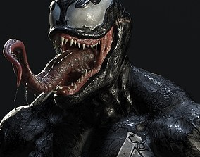 3D printable model Venom bust