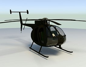 MH-6 Little Bird lowpoly 3D model VR / AR ready
