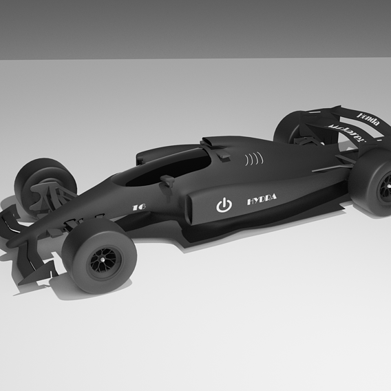 F1 futuristic car