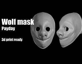 3D print model Wolf Payday mask
