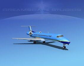 3D model Embraer ERJ-145 Express Charter