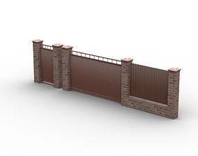 Fence cottages 3D model