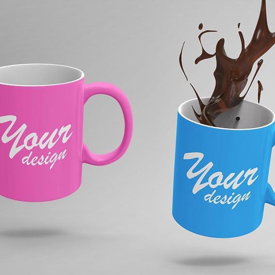 Cup MockUps with COffee splash