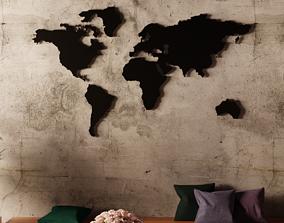 3D World Map - 3D Printable world-map