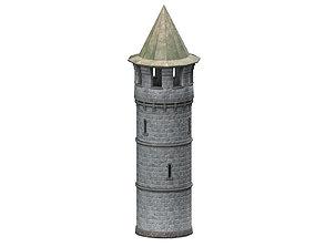 3D model Stone tower v3