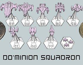 3D printable model MicroFleet DoMinion Squadron Starship