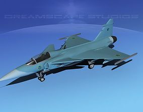 SAAB S39 Gripen Fighter V03 3D model