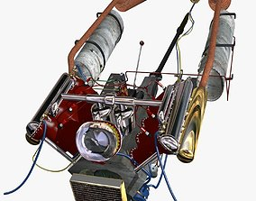 V-8 Marine Engine 3D model