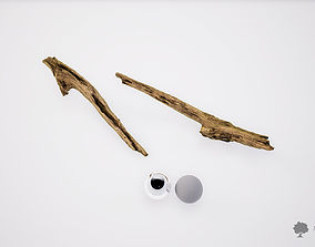 3D model game-ready Wood stick 003 - Photogrammetry