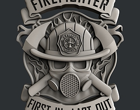 3d STL models for CNC router Firefighter