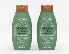 3D Aveeno Fresh Greens Blend Shampoo and Conditioner