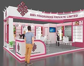 2 side open stall design 3D model