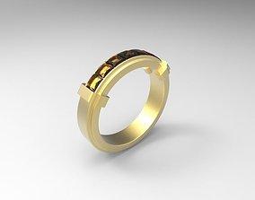 Ring 3D printable model diamond