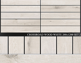 ABK Crossroad Wood White 200x1200 Set 3D model