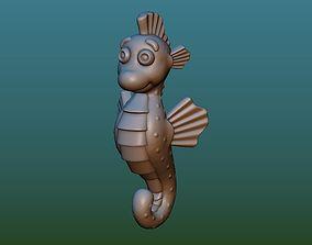 Sea horse 3D print model
