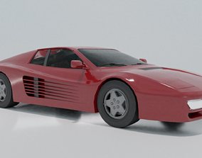 3D model realtime Ferrari Testarossa