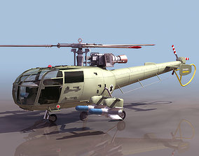 3D model ALOUET HELICOPTER