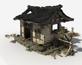 3D model Chinese Broken house