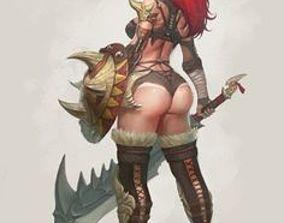 3D model Barbarian Female