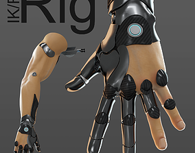 hand anatomy mechanical 04 3D