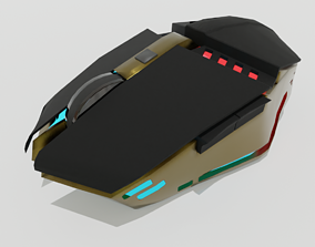 RGB Gaming Mouse 3D asset