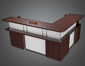 Reception Desk 01 HPL - PBR Game Ready 3D asset