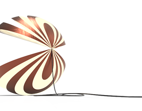 Shella Floor Version Lamp 3D