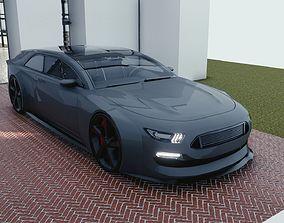 BLENDER EEVEE Brandless Extended Wheelbase 2 3D asset 2