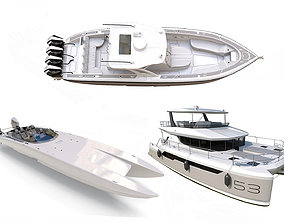 Boats collection 3D