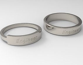 Engineer Couple Ring Platinum 3D print model