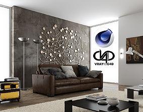 Living Room 3 Vrayforc4d 3D model