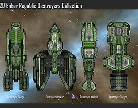 2D Enkar Republic Destroyers Collection 3D