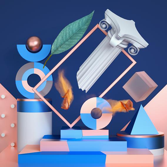 Goldfish - Geometric/Abstract