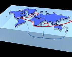 Ocean currents 3D