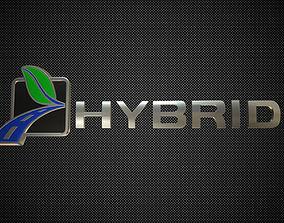 hybrid logo 3 3D