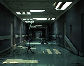 3D model Hallway Damaged
