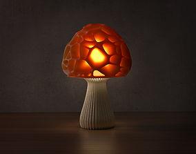 3D printable model Voronoi mushroom lamp 2