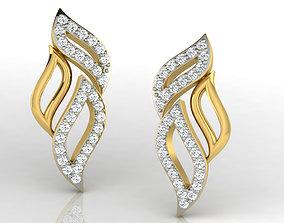 Women earrings 3dm render detail hoop jewellery