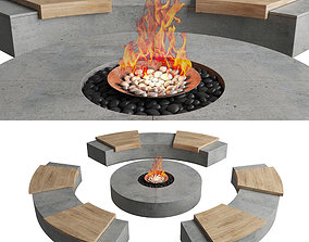 fire place outdoor 3D