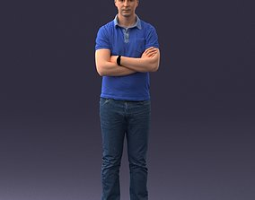 3D model Man in casual clothes 0506